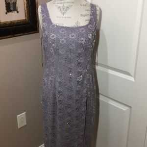 2-pc ALEX EVENINGS 10, Dress+Jacket Sequined Lined